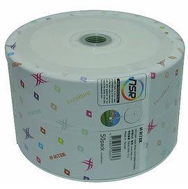 【加贈CD棉套+免運費】錸德 Ritek 空白光碟片 X版 CD-R 白金片 52X 白色滿版可印片(50片裸裝X12) 600P