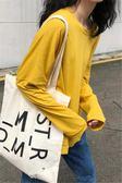 雙12購物狂歡- 秋季韓國學院風百搭純色長袖T恤寬鬆顯瘦圓領體恤打底衫女上衣交換禮物