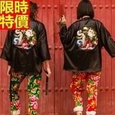 和服外套(單件)-民族風刺繡日式復古防曬和風男女罩衫68af40【時尚巴黎】
