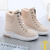 雪地靴女冬季棉鞋加絨加厚底保暖馬丁靴中筒短靴【雲木雜貨】