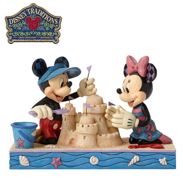 【正版授權】Enesco 米奇 米妮 堆沙雕 塑像 公仔 精品雕塑 Mickey Minnie 迪士尼 Disney - 832625