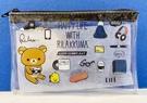 【震撼精品百貨】Rilakkuma San-X 拉拉熊懶懶熊~San-X 透明拉鍊收納包/零錢包-生活日常#75786