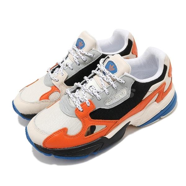 【海外限定】adidas 休閒鞋 Falcon W 米白 黑 橘 女鞋 老爹鞋 運動鞋 【ACS】 EG9934
