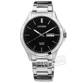 CITIZEN 星辰表 / BF2001-80E / 簡約大方 星期 日期 礦石強化玻璃 日本機芯 不鏽鋼手錶 黑色 41mm