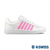 K-SWISS Court Winston時尚運動鞋-女-白/螢光粉
