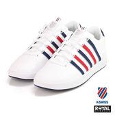 K-SWISS 新竹皇家 Court Pro 白/藍紅色 皮質 記憶鞋墊 休閒鞋 男款 NO.A9395