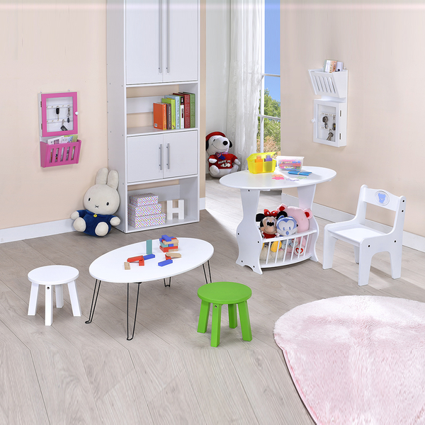 ONE HOUSE-DIY-DIY免運-小圓椅.茶几桌.書桌兒童椅 學習遊戲桌椅組