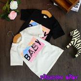 韓版時尚流 男女童中小童寶寶 T恤印花短袖上衣 Fashion Baby