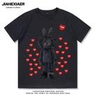 2021夏季新款潮牌聯名短袖T恤男生情侶裝歐美潮流純棉寬鬆半袖【快速出貨】