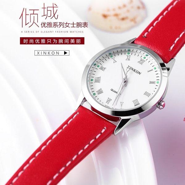 手錶女學生韓式簡約潮流ULZZANG小清新款防水夜光流行女錶CHIC風森女繫 萬聖節8折