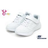 SKECHERS童鞋 全白運動童鞋  皮面防水運動鞋 男童鞋 女童鞋 魔鬼氈跑步鞋 S8272#白色◆OSOME奧森鞋業