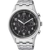 加碼第3年保固*聖誕節推薦款 CITIZEN 星辰 Chronograph 光動能計時手錶-黑x銀/42mm CA0620-59H