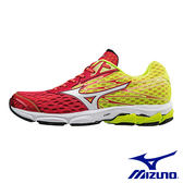 【MIZUNO促銷5折】MIZUNO(男) WAVE CATALYST2 專業路跑鞋 / 紅x黃 - J1GC173301