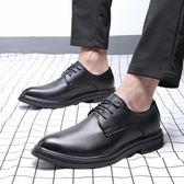 男皮鞋 保暖男鞋子 韓版亮面休閒男鞋淘尖頭商務鞋漆皮休閒皮鞋《印象精品》q610