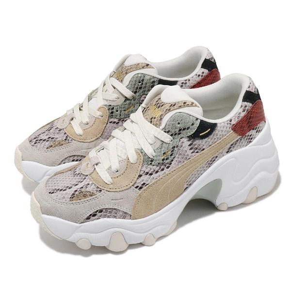 Puma 休閒鞋 Pulsar Wedge Disco Wild Wns 增高 蛇紋 女鞋【ACS】 37393801