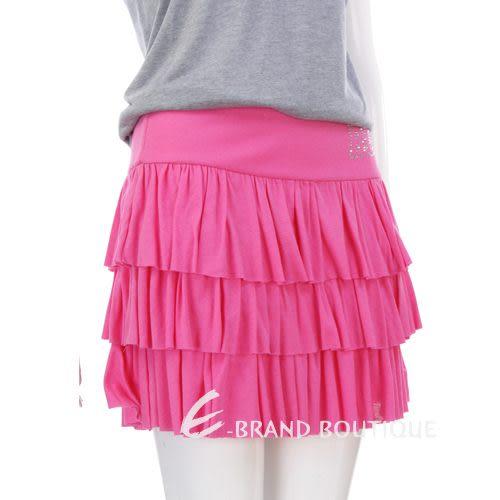 BLUGIRL 桃紅色水鑽飾皺褶蛋糕裙 0810311-41