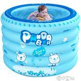 充氣嬰兒游泳池新生兒家用保溫室內超大號圓形1-3歲兒童寶寶浴缸igo 港仔會社