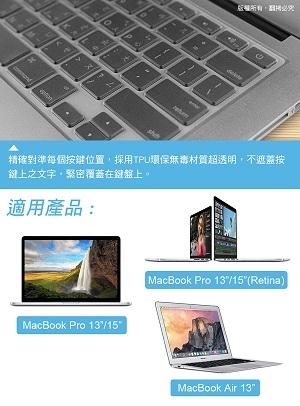 【超人百貨O】全新促銷 Apple MacBook Pro 13吋/15吋 透明 鍵盤 保護膜