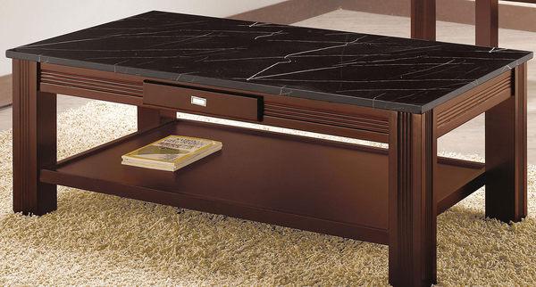 【南洋風休閒傢俱】茶几系列-  收納 人造石面桌 造型桌 胡桃桌 利迪亞石面大茶几(JH534-3)