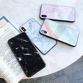 蘋果 iPhone XS MAX XR iPhoneX i8 Plus i7 Plus 鏡面大理石玻璃殼 手機殼 軟邊 全包邊 保護殼
