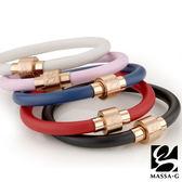 O2鍺鈦能量手環-6MM玫瑰金扣 MASSA-G