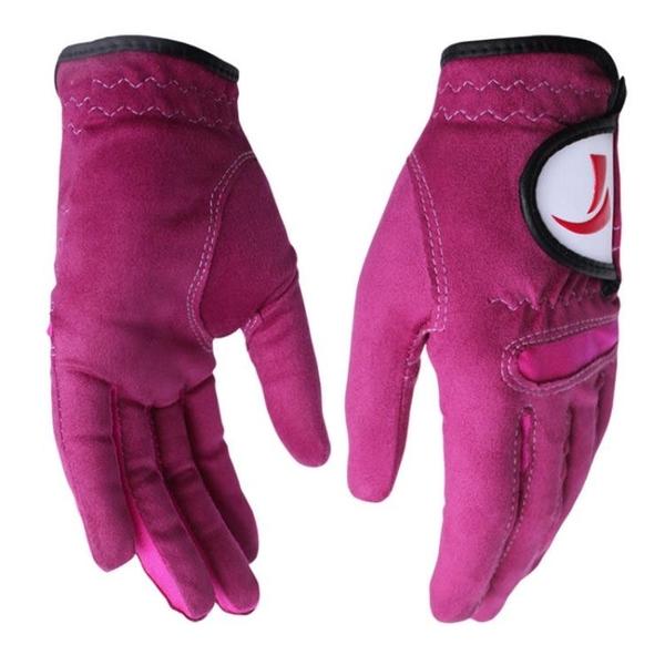 高爾夫手套 女款 雙手手套 纖維布手套 柔軟耐磨 透氣 快速出貨