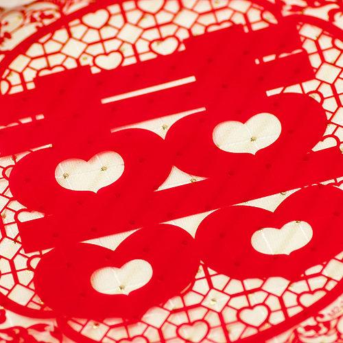 幸福婚禮小物❤傳統圖騰 靜電圓形喜字貼紙(中)❤傳統婚俗用品
