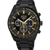 張軒睿配戴款《我的男孩》SEIKO 精工 Criteria 極速風暴限量太陽能計時碼錶-黑/42mm V175-0DL0K(SSC473P1)