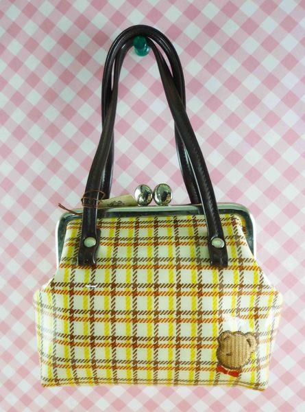 【震撼精品百貨】日本DEAR BEAR~手提袋-咖啡格