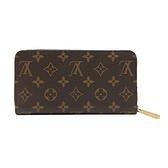 【台中米蘭站】全新品 Louis Vuitton Monogram帆布拉鍊長夾(M42616-咖)