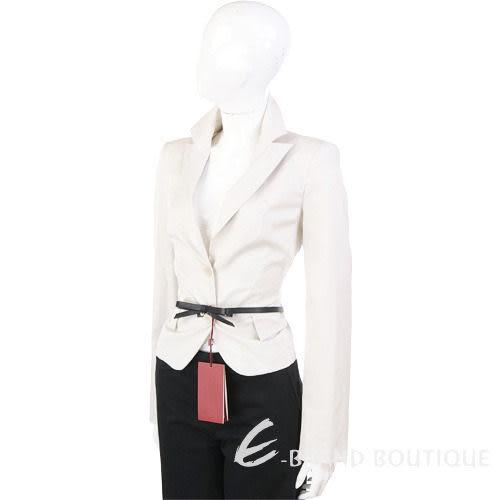 PAOLA FRAN 米白色雙釦西裝外套(不含腰帶) 1010143-03