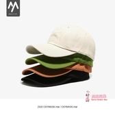 棒球帽 黑色帽子女鴨舌帽ins潮牌男日系韓版百搭網紅顯臉小軟頂棒球帽春 8色