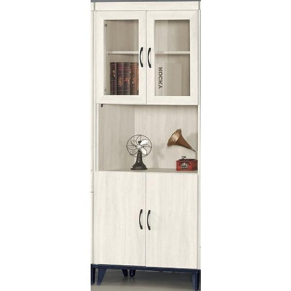 書櫃 書櫥 AT-747-3 鋼刷白2.7X6.5尺四門開放書櫥【大眾家居舘】