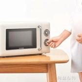 微波爐 圈廚CR-WB01B微波爐家用小型正品多功能迷你轉盤式復古機械新款20 MKS阿薩布魯