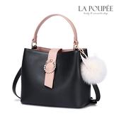 手提包 輕甜流星圓環兔耳毛球水桶包-La Poupee樂芙比質感包飾 (預購)