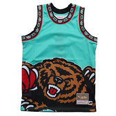 MITCHELL & NESS M&N 灰熊 湖水綠 背心 BIG FACE 球衣 (布魯克林) MN20AJE01VG