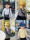 嬰兒1-3歲兒童條紋長袖t恤百搭男寶寶上衣打底衫 露露日記