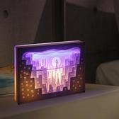 diy光影紙雕燈 diy材料包手工創意3d立體剪紙小夜燈成品疊影台燈 - 歐美韓熱銷