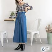 CANTWO JEANS馬甲式綁繩寬褲