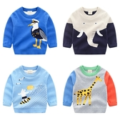 寶寶卡通毛衣 秋冬裝新款女童童裝 兒童套頭針織衫 男童線衣潮
