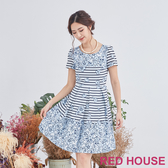 【RED HOUSE 蕾赫斯】花朵條紋洋裝(共2色)