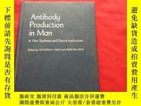 二手書博民逛書店Antibodu罕見production in manY1790