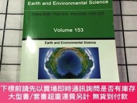 二手書博民逛書店iop罕見conference series earth and environmental science io