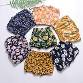 褲子。花朵滿印樣式兒童沙灘短褲  *繪米熊童裝* (AL90423)