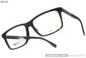 HUGO BOSS 光學眼鏡 HB0754F KD2 (琥珀-黑) 休閒經典百搭款 # 金橘眼鏡