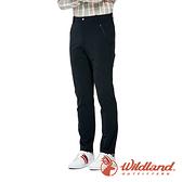 【wildland 荒野】男 彈性抗UV涼感機能長褲『黑色』0A91328 戶外 休閒 運動 露營 吸濕 排汗 快乾