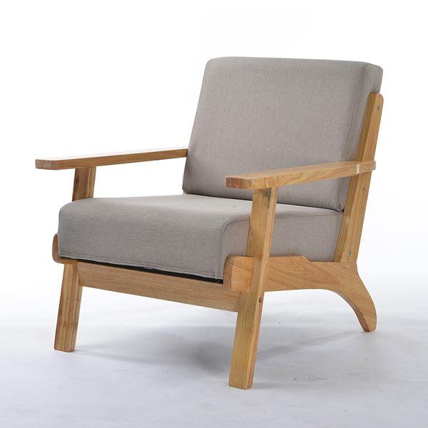 日式簡易布藝沙發小戶型客廳北歐小沙發單人雙人三人實木沙發椅xw 快速出貨