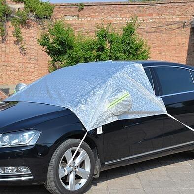 汽車遮雪擋前擋風玻璃防凍罩冬季車玻璃遮擋霜布前檔防雪車衣半罩  (pink Q 時尚女裝)