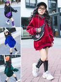 女童連帽衣衛衣兒童秋裝上著韓版潮高領洋氣連帽衫【奈良優品】