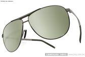 Porsche Design太陽眼鏡 PO8642 C (槍銀-黃水銀) 頂級時尚飛官水銀鏡面款 # 金橘眼鏡